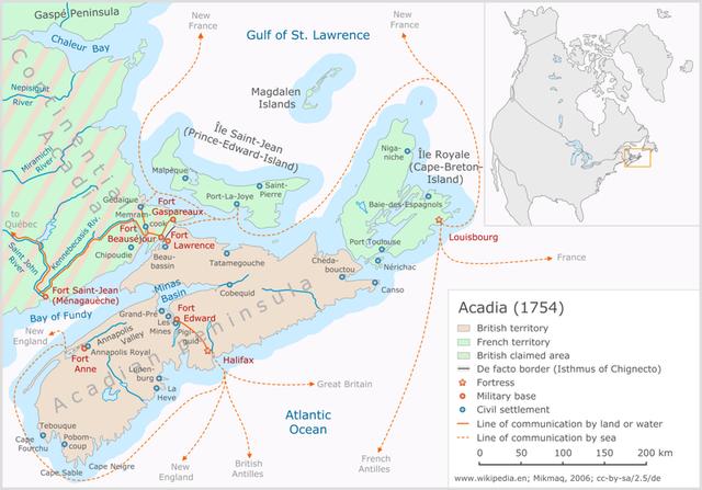 English attack Louisbourg