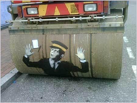 Steam Roller Traffic Warden – London