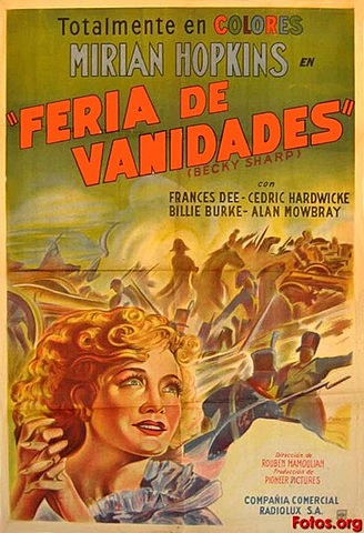 """Aparece el cine a color con la primera película """"La feria de las vanidades""""."""