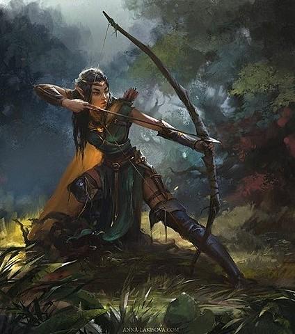 Les Elfes découvrent le Tir à l'arc