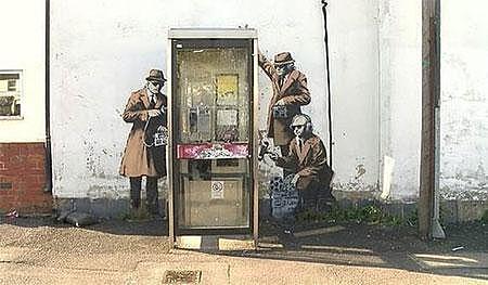 GCHQ Government Spies Telephone Box – Cheltenham