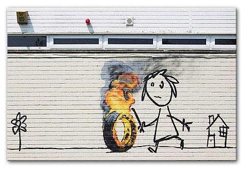 Burning Tyre - Bristol