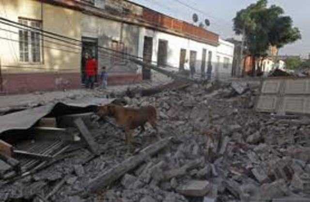 Earthquake hits Santiago, Chile