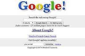 Search Engines (Google)- 1996