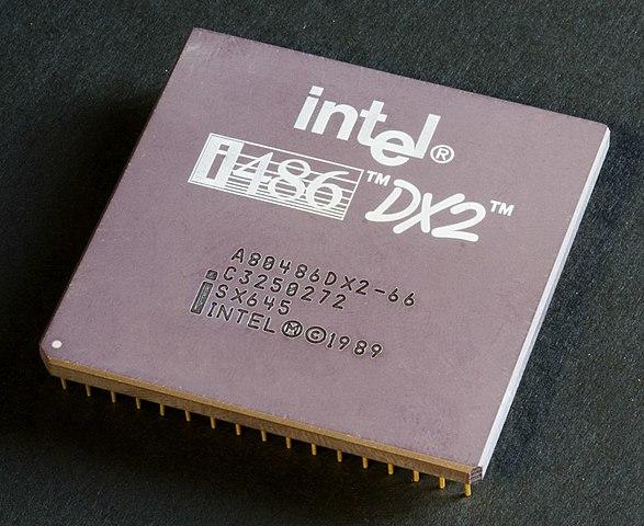 Intel выпустила 32-битный  процессор четвёртого поколения Intel i486