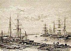 Bloqueo frances al puerto de Buenos Aires