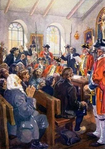 British deport the Acadians