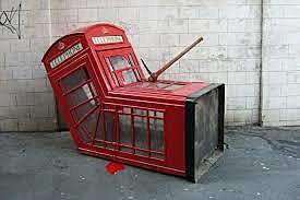 Vandalized Phone Box - London