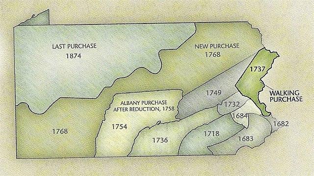 The Delaware/ Pennsylvania land agreement