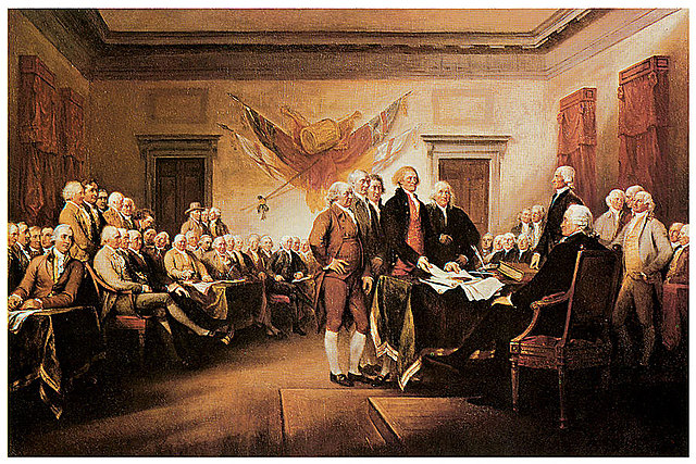 Congress approves the Declaration of Independence