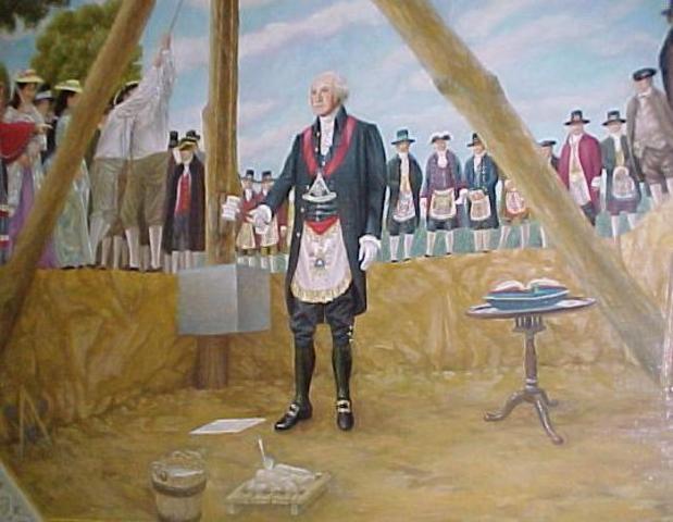 Washington laid the cornerstone of the U.S. Capitol in Washington, D.C.