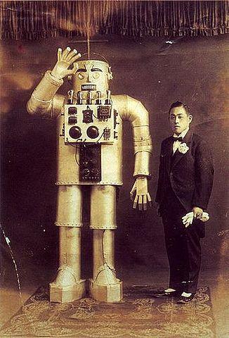 Se exhibe un robot humanoide en la World's Fairs