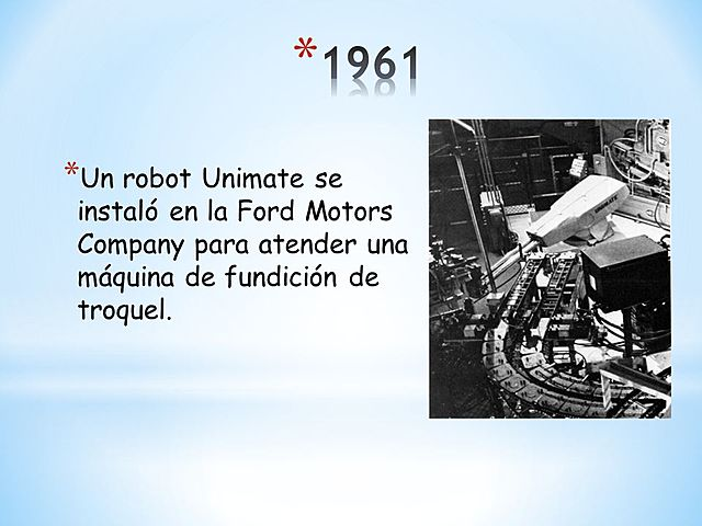 Se instala el primer robot industrial Unimate