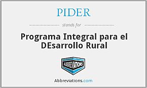 PROGRAMA DE INVERSIONES Y DESARROLLO RURAL