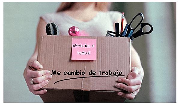 CAMBIO DE TRABAJO