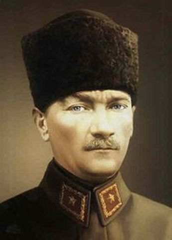 Mustafa Kemal elected president of Turkey