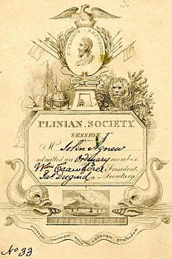 Charles Darwin Joins the Plinian Society