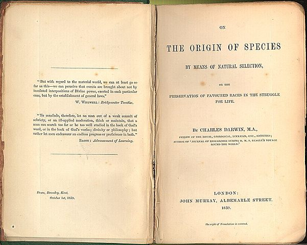 Charles Darwin's Origin of Species is Published