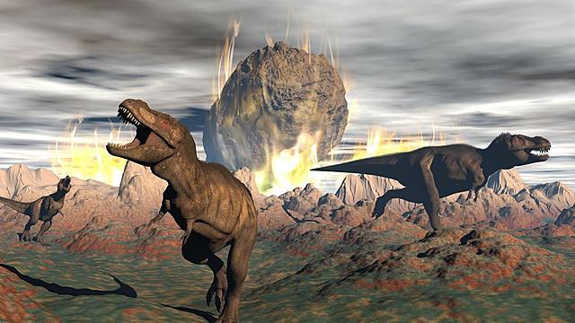 Teoría del asteroide que produjo la extinción de los dinosaurios.