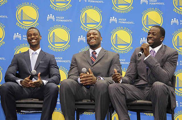 Warriors draft Forward Draymond Green, Forward Harrison Barnes, and Center Festus Ezelind
