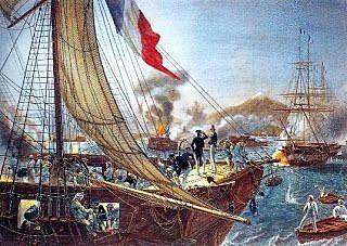 El bloque francés de 1838.