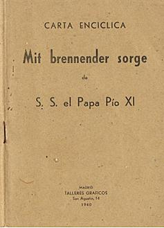 Mit Brennender Sorge PIO XI