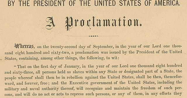 Emancipation Proclamation (Unit 4)