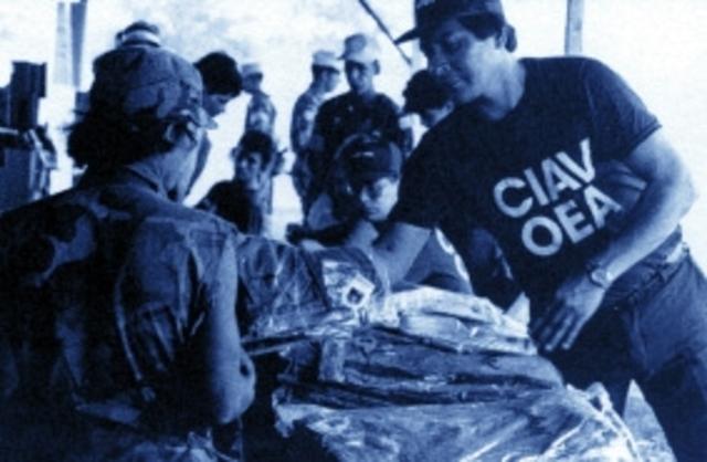 Misión CIAV (Comisión Internacional de Apoyo y Verificación) en Nicaragua.