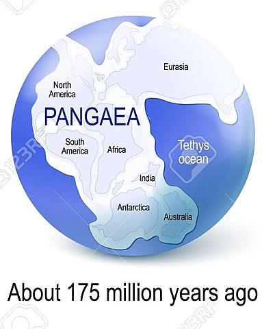 Pangaea starts to break up