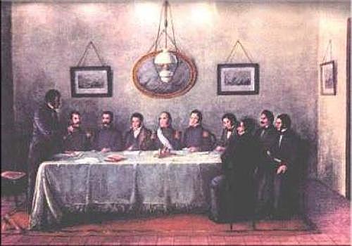La Firma del Pacto Federal.