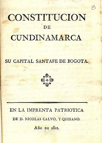 Constitución política de Cundinamarca