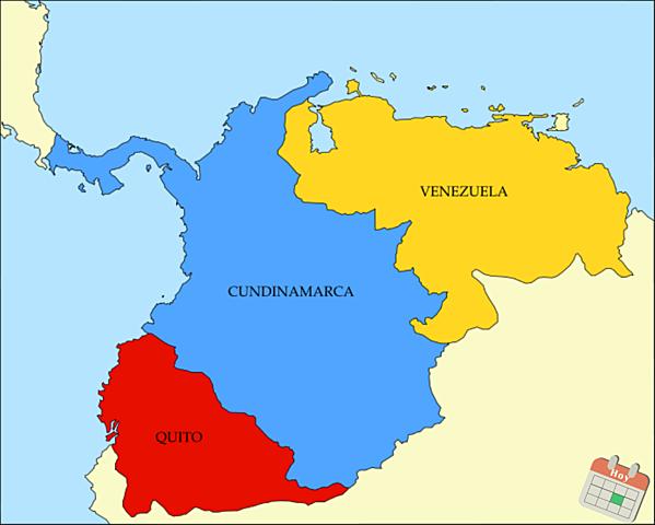 Separación de Venezuela y Ecuador de La Gran Colombia
