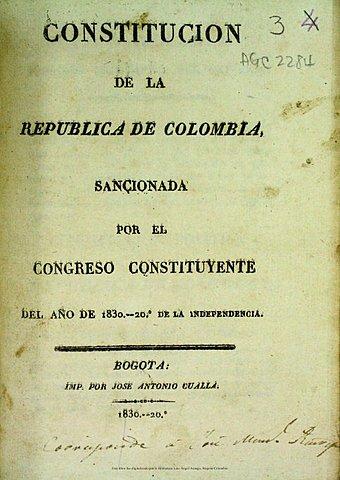 Constitución política de 1830