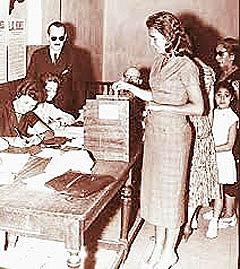 Sanción del voto femenino
