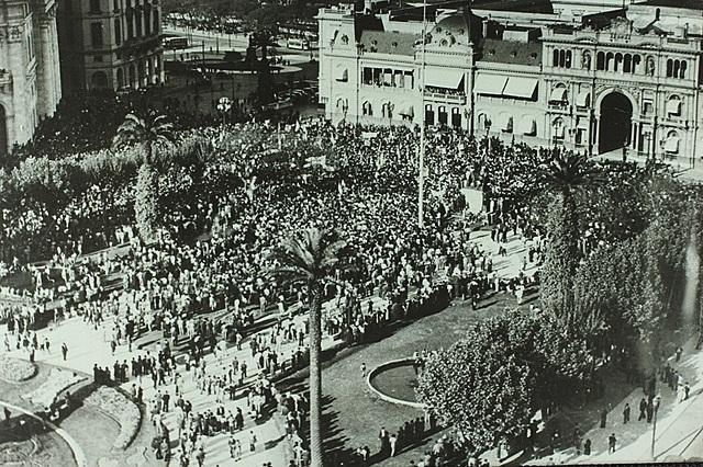 Movilización pidiendo la liberación de Perón