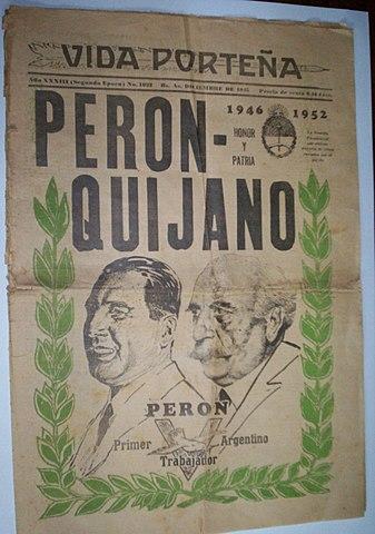 Triunfo de Perón-Quijano