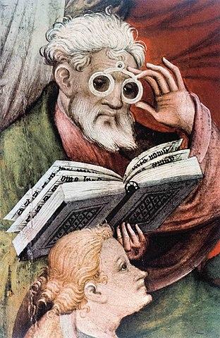 Invencion de anteojos