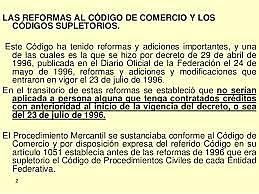 Nueva reforma al Código de Comercio vigente, 24 de mayo de 1996
