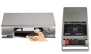 Videojuegos, Videograbadora, VHS, Cassettes