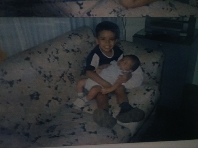 foto con mi hermano daniel