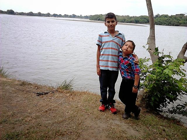Mi primo y yo en Pto Rondón Arauca