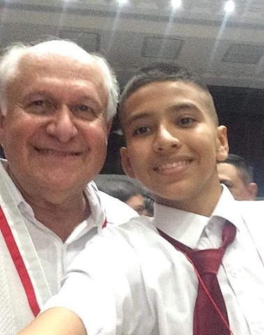 foto con Manuel Elkin Patarroyo