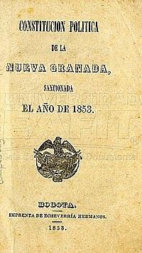 Constitución de la República de Nueva Granada de 1853