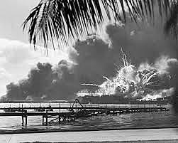 Japan attacks the Pearl Harbour, and then the US enters the war