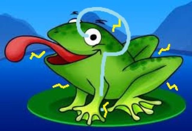 Luigi Galvani makes a frog twitch