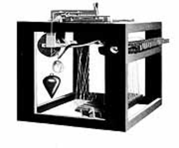First prototype of typewriter