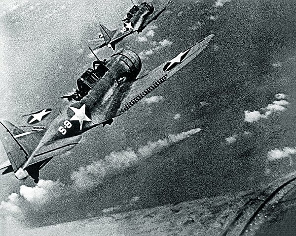 USA defeat Japan in the battle of Midway.