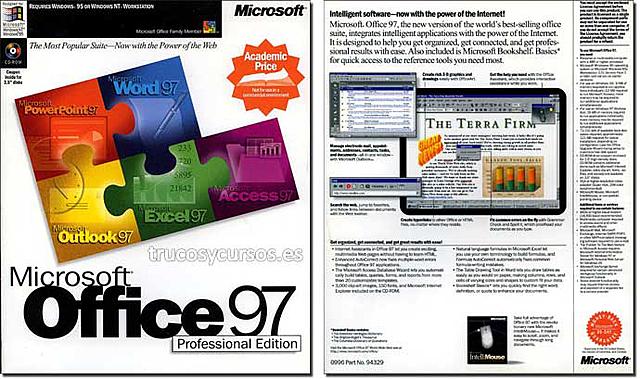 Excel 97 (v8.0)