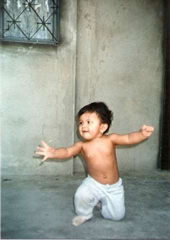 When I learnt how to walk