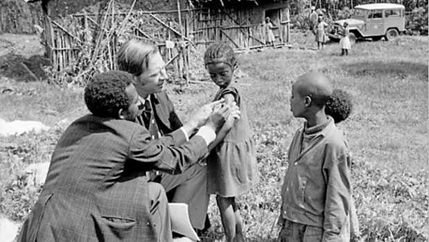 Erradicación de Viruela a nivel mundial.